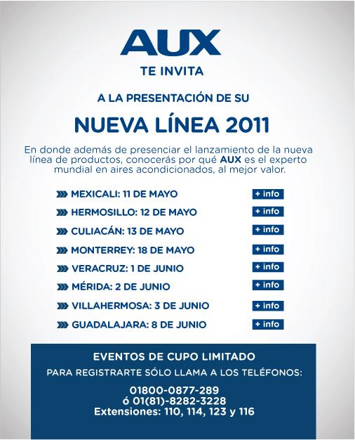 AUX de México presenta su línea 2011